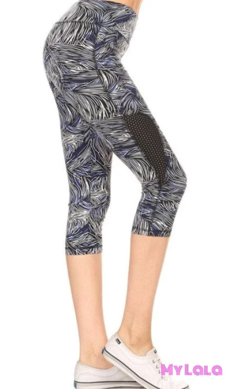 Blue Sketch Breathable Active Wear