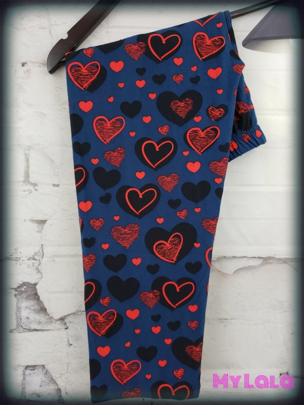 CAPRI- Curvy Love in the Dark - My Lala Leggings, soft leggings, buttery soft leggings, one size leggings
