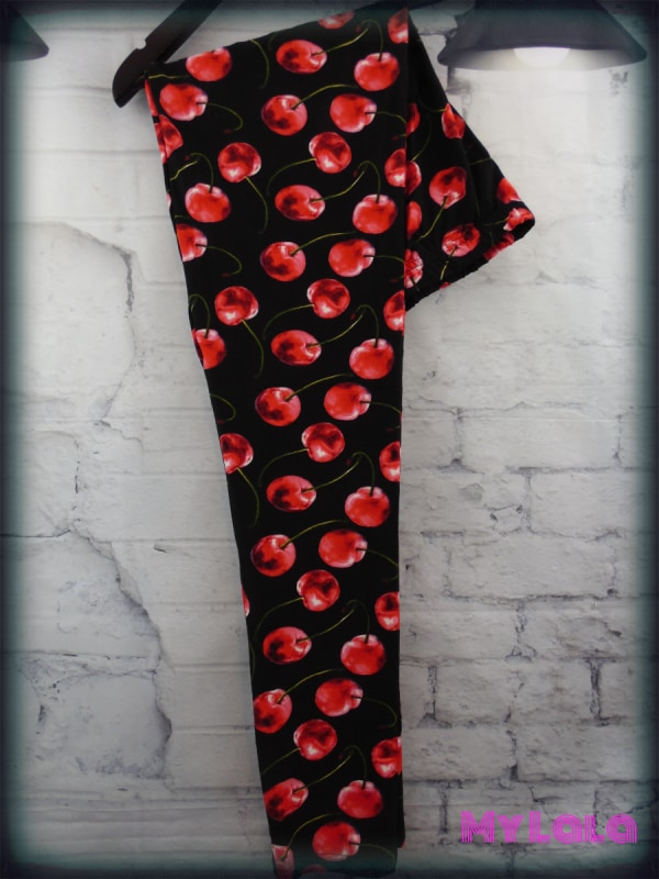 Cherry My Love OS - My Lala Leggings, soft leggings, buttery soft leggings, one size leggings