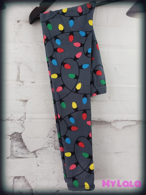 Christmas Lights Kids - My Lala Leggings, soft leggings, buttery soft leggings, one size leggings