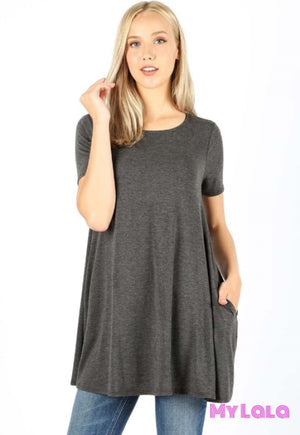 Curvy Bella Boat Neck (Charcoal)