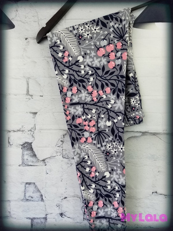 Curvy Blossom - My Lala Leggings, soft leggings, buttery soft leggings, one size leggings