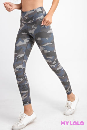 Curvy Camo Activewear (Grey Blue) - My Lala Leggings, soft leggings, buttery soft leggings, one size leggings