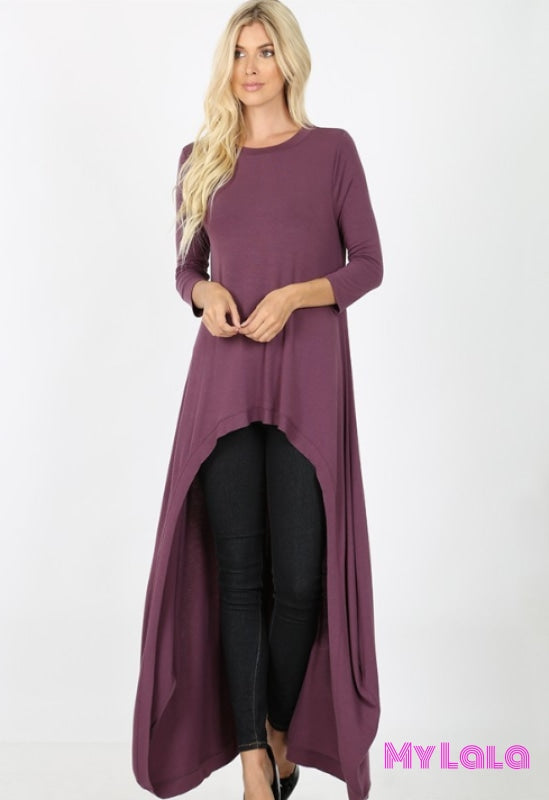 Curvy Chelsea Coverall (Eggplant)