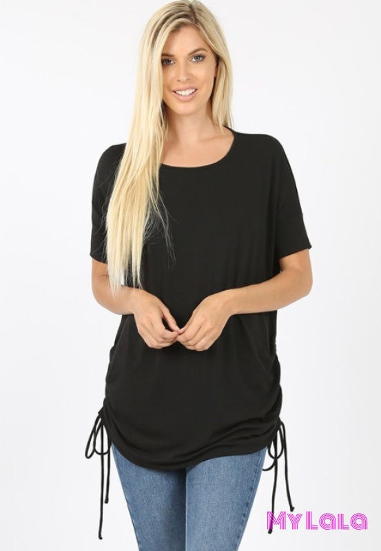 Curvy Cinched Sides Cindy (Black)