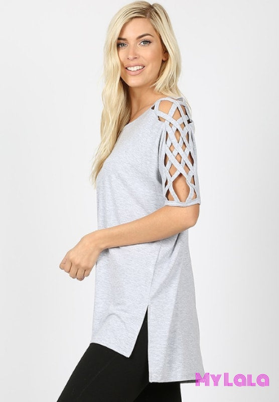 Curvy Criss-Cross Shoulder (H Grey)