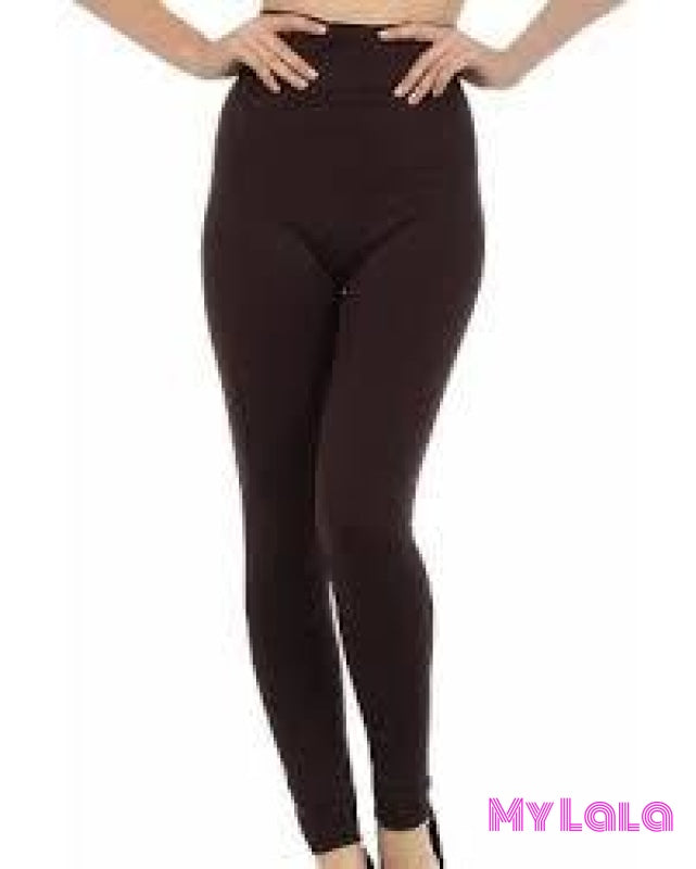 Curvy Fleece Lined (Brown) - My Lala Leggings, soft leggings, buttery soft leggings, one size leggings