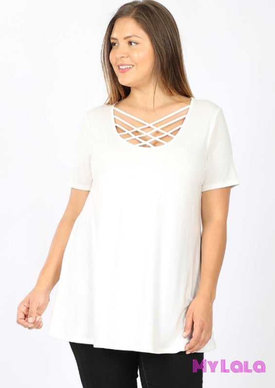 Curvy Houston Blouse (Ivory)