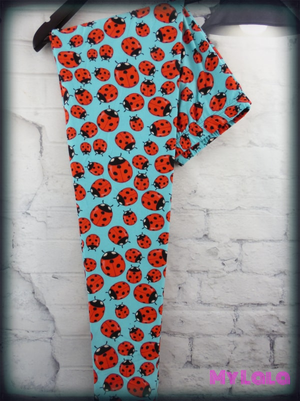 Curvy Lady Bug - My Lala Leggings, soft leggings, buttery soft leggings, one size leggings