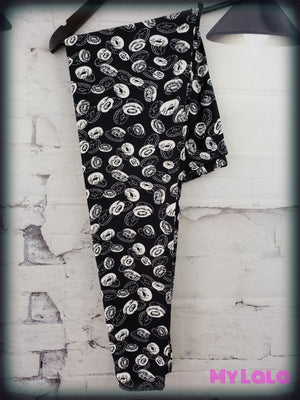 Curvy Life is like a box of Donuts - My Lala Leggings, soft leggings, buttery soft leggings, one size leggings