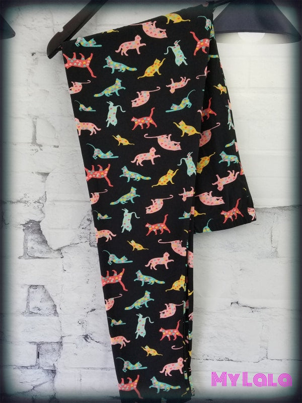 Curvy Love Cats - My Lala Leggings, soft leggings, buttery soft leggings, one size leggings