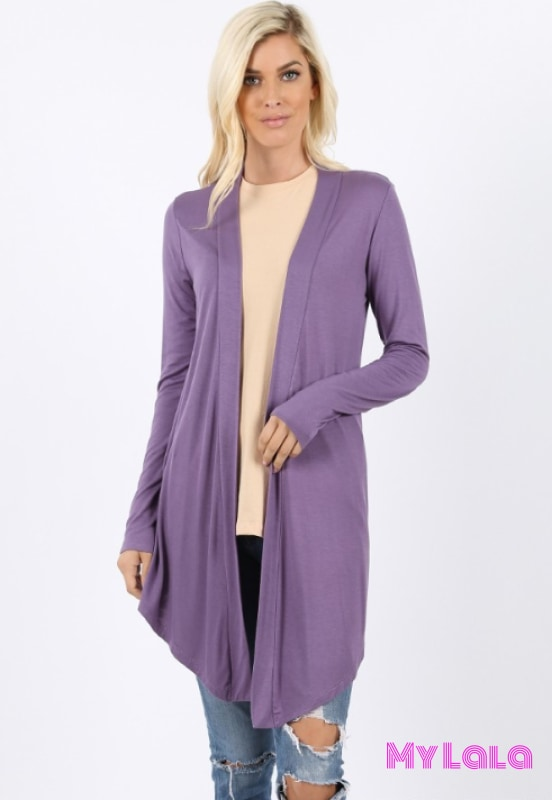 Curvy Open Fall (Lilac Grey)
