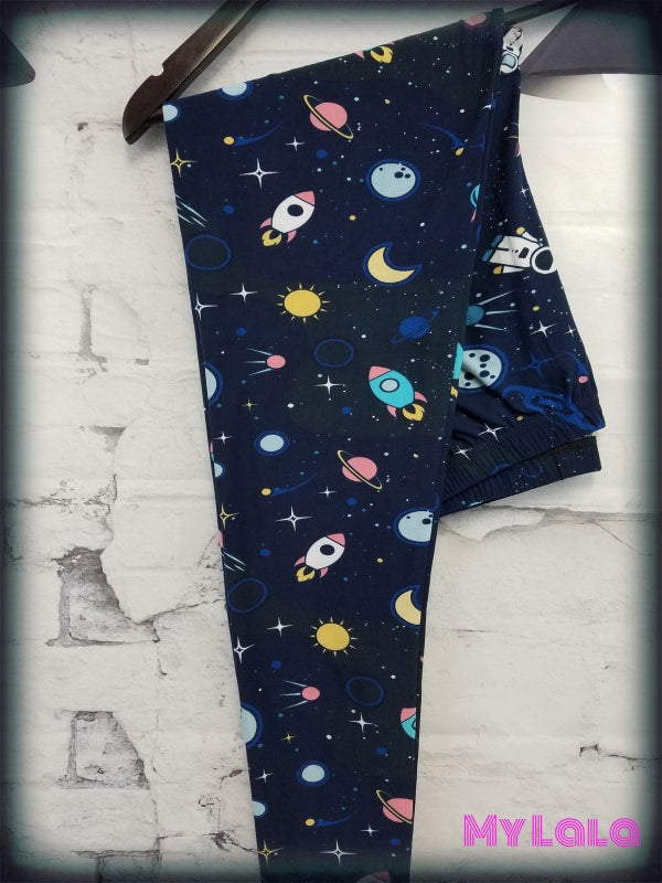 Curvy OuterSpace - My Lala Leggings, soft leggings, buttery soft leggings, one size leggings