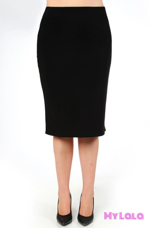 Curvy Pencil Skirt Black