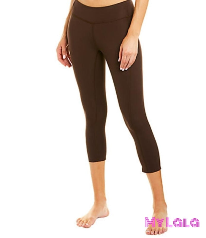 Curvy Pocketed Yoga Softy Capri (Chocolate) - My Lala Leggings