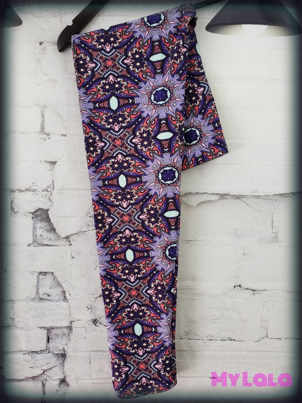 Curvy Purple Royalty - My Lala Leggings, soft leggings, buttery soft leggings, one size leggings