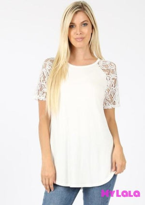 Curvy Sarah Shoulder Lace (Ivory)