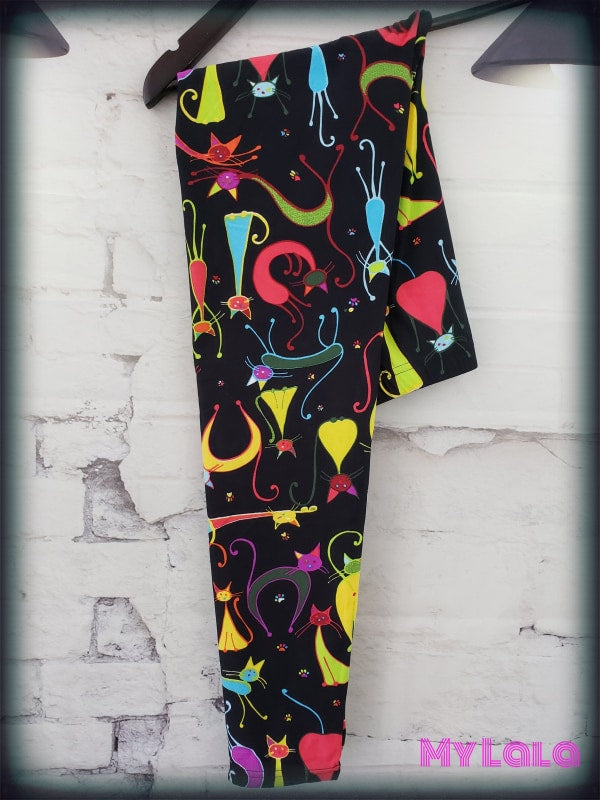Curvy Skat Kats - My Lala Leggings, soft leggings, buttery soft leggings, one size leggings