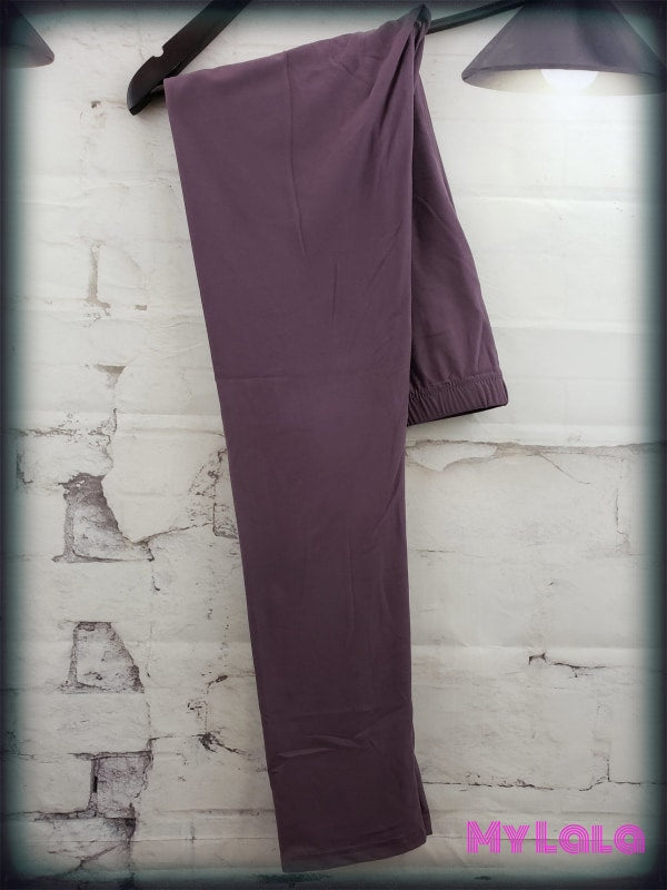 Curvy Solid Eggplant - My Lala Leggings, soft leggings, buttery soft leggings, one size leggings