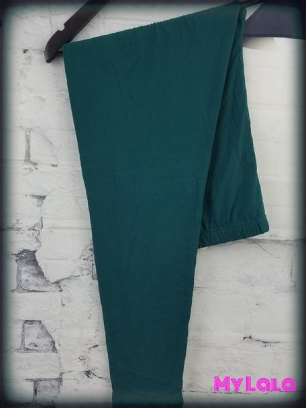 Curvy Solid Forest Green - My Lala Leggings, soft leggings, buttery soft leggings, one size leggings