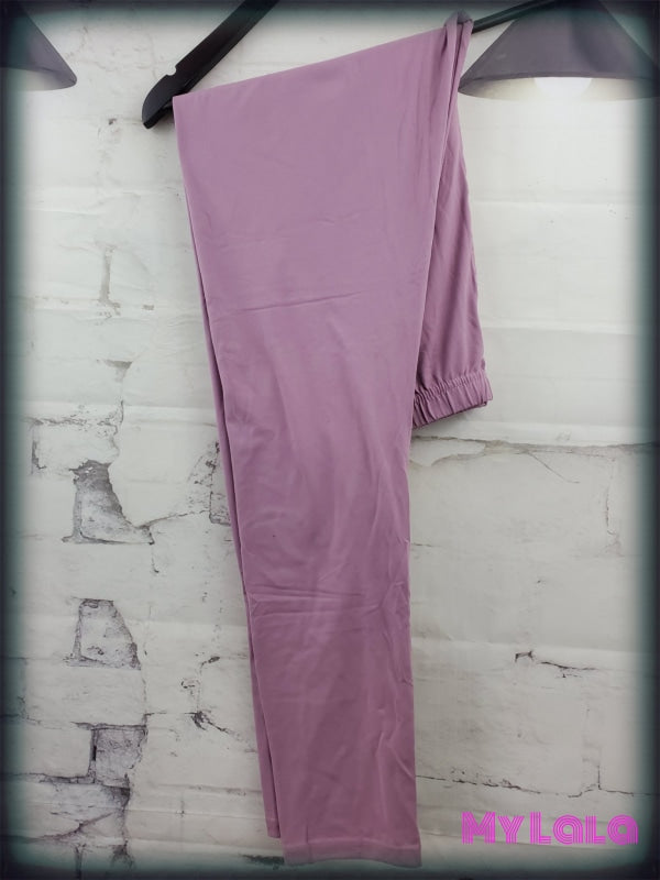 Curvy Solid Mauve - My Lala Leggings, soft leggings, buttery soft leggings, one size leggings