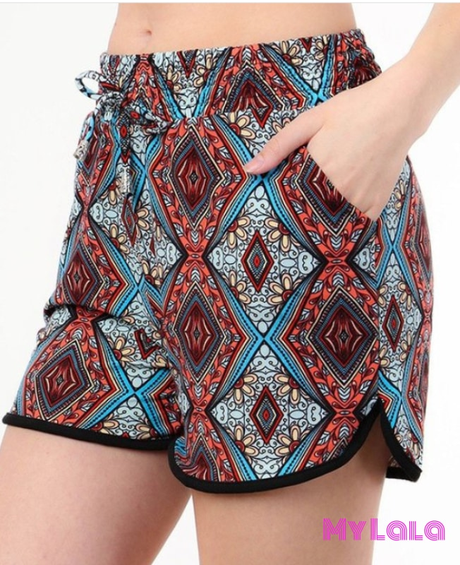 Curvy Stained Glass Shorts