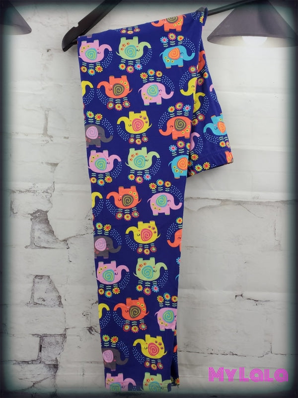 Curvy Technicolor Elephant - My Lala Leggings, soft leggings, buttery soft leggings, one size leggings