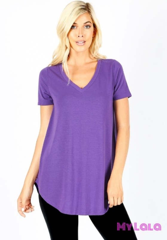 Curvy Veronica Top (Purple)
