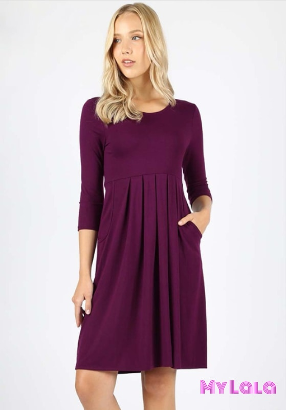 Dress 3/4 London (Dk Plum)