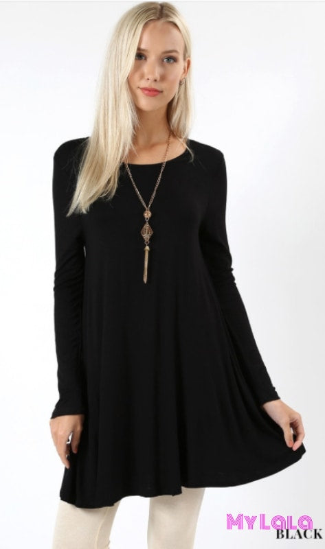 Dress Aspen Long Sleeve Legging Dress (Black)