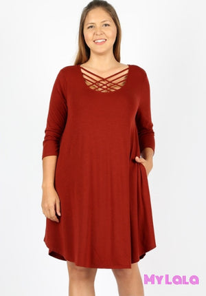 Dress Curvy 3/4 Houston Lattice (Dk Plum)