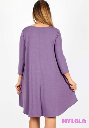 Dress Curvy 3/4 Houston Lattice (Lilac Grey)
