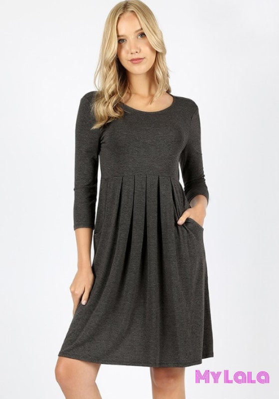 Dress Curvy 3/4 London (Charcoal)