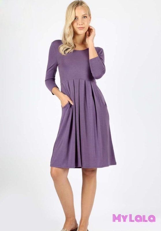 Dress Curvy 3/4 London (Lilac Grey)