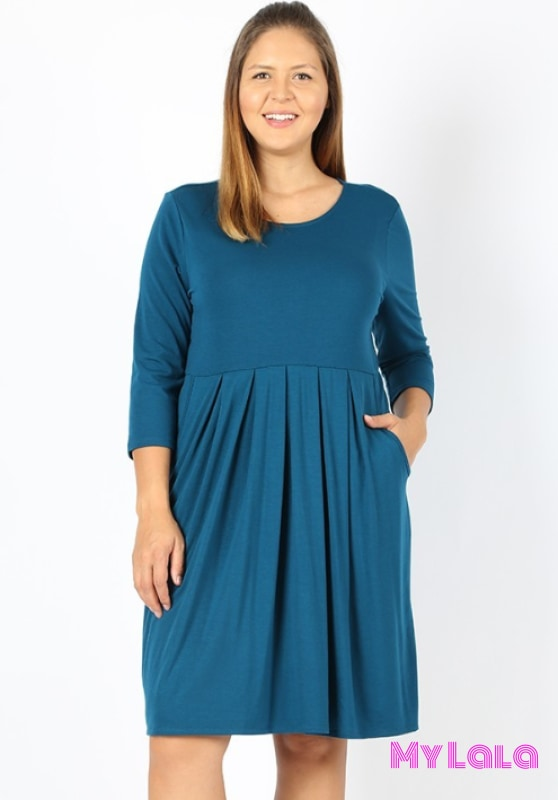 Dress Curvy 3/4 London (Teal)