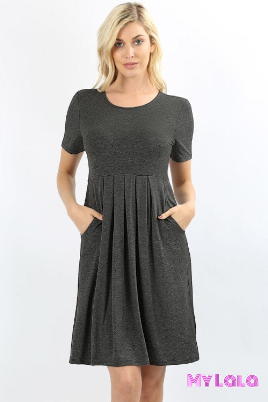 Dress Curvy London (Charcoal)