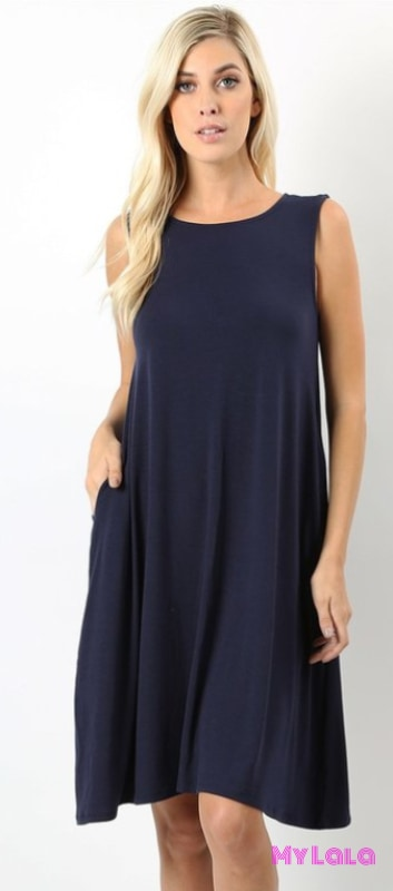 Dress Curvy New York (Navy)