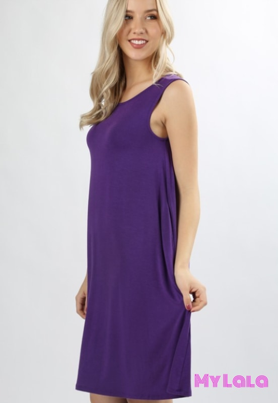 Dress Curvy New York (Purple)