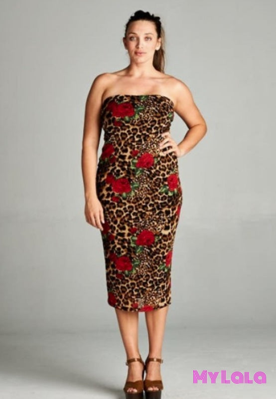 Dress - Curvy Tulsa Tube (Animal)