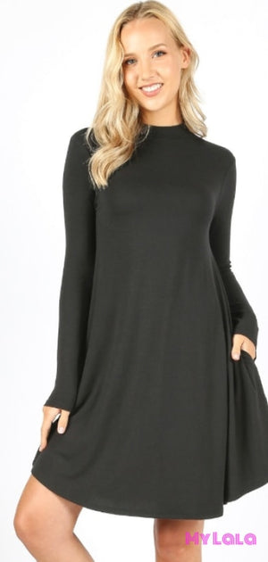 Dress Curvy Vienna (Black)