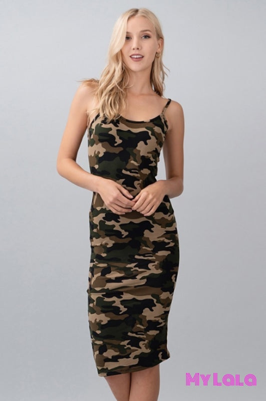 Dress Madison Midi (Camo) - My Lala Leggings, soft leggings, buttery soft leggings, one size leggings