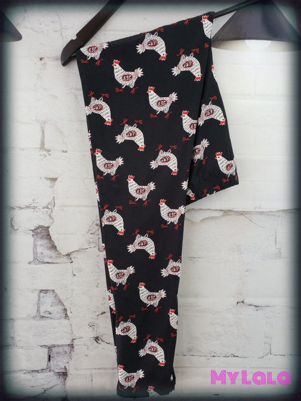 Extra Curvy Are You Chicken (24-32) - My Lala Leggings, soft leggings, buttery soft leggings, one size leggings