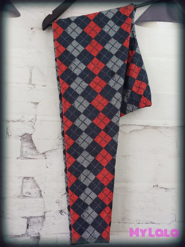 Extra Curvy Argyle Sweater (24-32) - My Lala Leggings, soft leggings, buttery soft leggings, one size leggings
