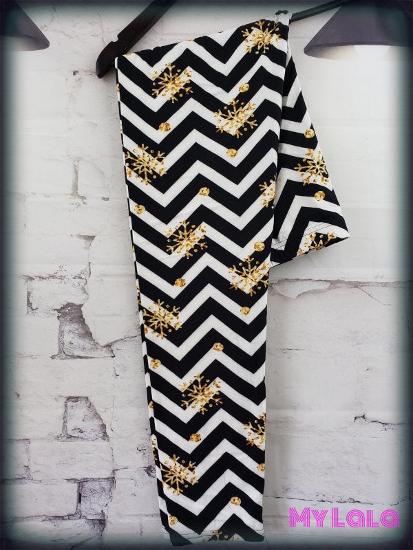 Extra Curvy Chevron Gold (20-26) - My Lala Leggings, soft leggings, buttery soft leggings, one size leggings