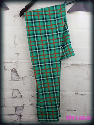 Extra Curvy Green Plaid (20-26)