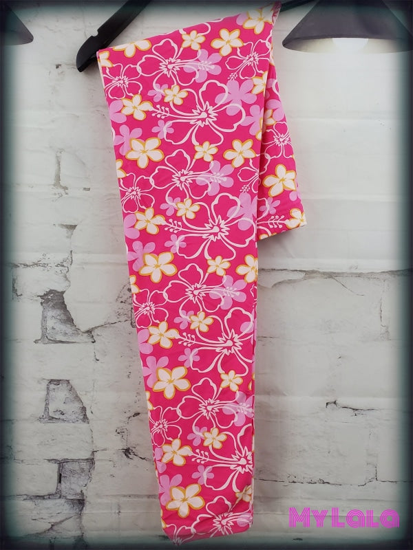 Extra Curvy Hot Pink Luau (20-26) - My Lala Leggings, soft leggings, buttery soft leggings, one size leggings