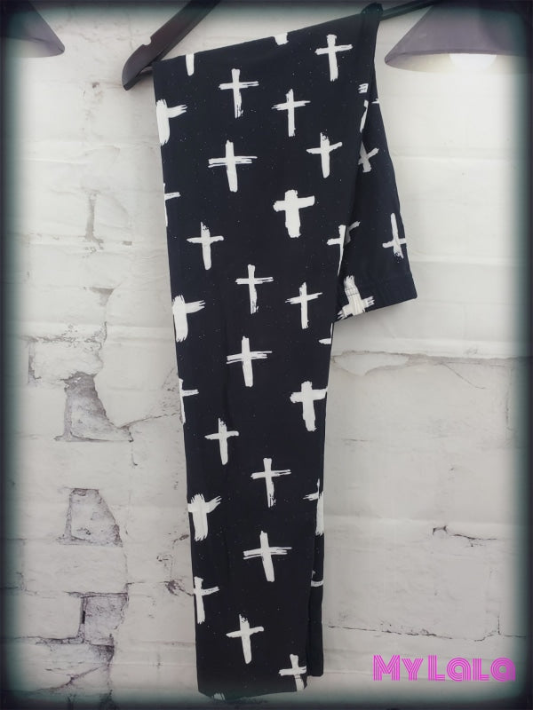 Extra Curvy Living Cross  (24-32) - My Lala Leggings, soft leggings, buttery soft leggings, one size leggings