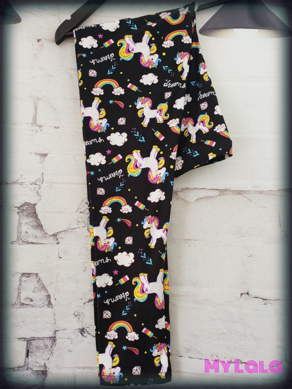 Extra Curvy My Little Unicorn (20-26) - My Lala Leggings, soft leggings, buttery soft leggings, one size leggings