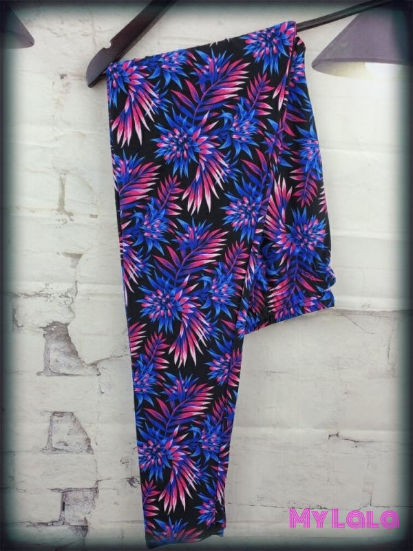 Extra Curvy Pink & Blue (24-32) - My Lala Leggings, soft leggings, buttery soft leggings, one size leggings