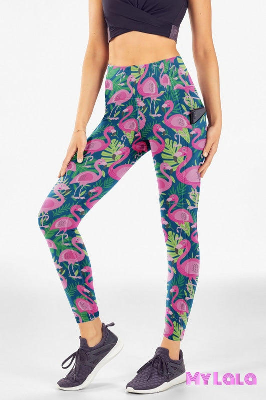 Extra Curvy Pocketed Legging 20-26 (Flamingo) - My Lala Leggings, soft leggings, buttery soft leggings, one size leggings
